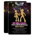 any age - disco birthday party invitation