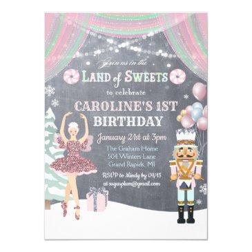 any age - nutcracker sugar plum birthday invite