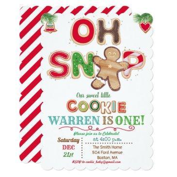 any age - oh snap gingerbread birthday invitation