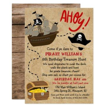 any age - pirate birthday party invitation