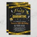 any age quarantine birthday party virtual birthday invitation