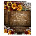 any age - sunflower lace birthday invitation
