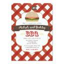 any age surprise bbq birthday party invitations