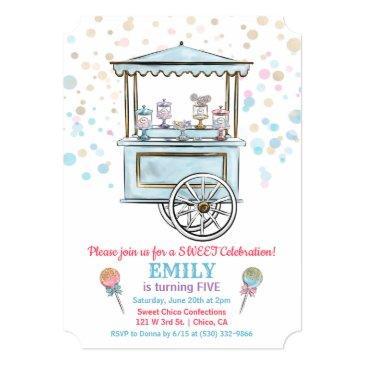 any age - sweet candy shop birthday invitation