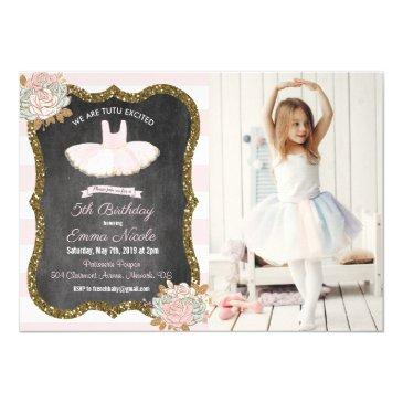 any age - tutu ballerina birthday invitation