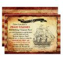 any age - vintage pirate birthday party invitations