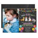 any photo - cat kitten birthday chalk invitation