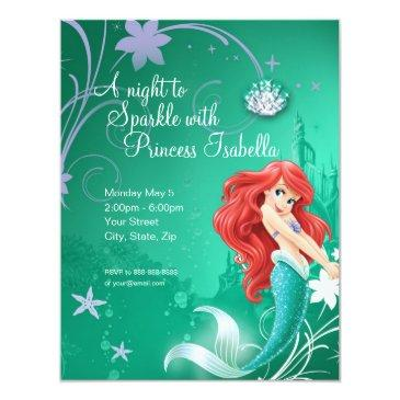 ariel | the little mermaid birthday invitation