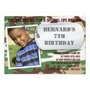 army dog tag birthday invitations