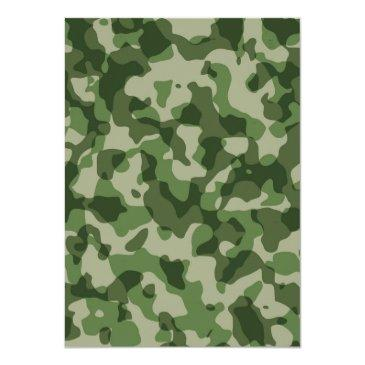 Small Army Military Birthday Invitation Back View