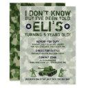 army military birthday party invitation