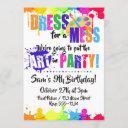 art / paint / craft birthday party invitations
