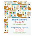 art party birthday invitation painting arts crafts