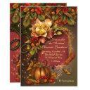 autumn harvest celebration invitations