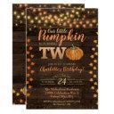autumn rustic fall country birthday invitation