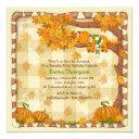 autumn sleepy cat invitations
