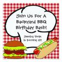 backyard bbq birthday invitations