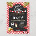 backyard bbq surprise birthday party red gingham invitation