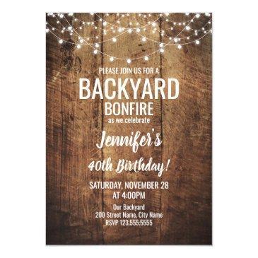 backyard bonfire birthday invitation