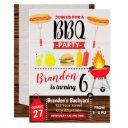 backyard party bbq birthday invitation