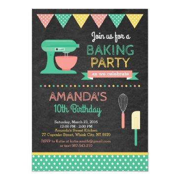 baking birthday invitations