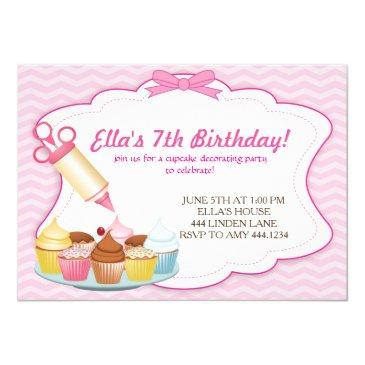 baking cupcake decorating birthday invitations