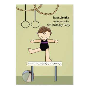 balancing act gymnastics party invitation