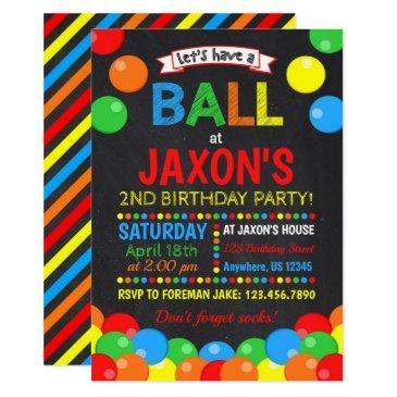 ball birthday invitation