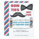 barber shop first birthday party invitations