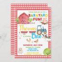 barnyard 1st birthday party cute farm animals invitation