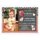 barnyard birthday invitation with photo