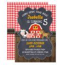 barnyard chalkboard photo birthday invitation
