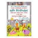barnyard farm animals barnwood birthday invitations