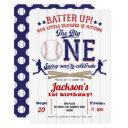 baseball 1st birthday, boy 1st birthday invitation