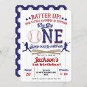 baseball 1st birthday, boy 1st birthday invitation