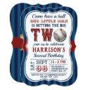 baseball 2nd birthday invitations