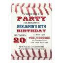 baseball birthday all occasion invitations