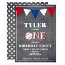 baseball birthday invitation boy 1st birthday