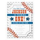 baseball little slugger boy's birthday invitation