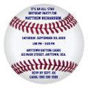 baseball with blue pinstripe back invitations