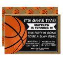 basketball birthday party invitation fans