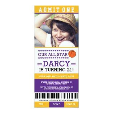 basketball ticket birthday invites