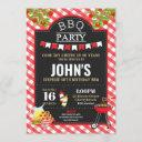 bbq surprise birthday party any age invitation