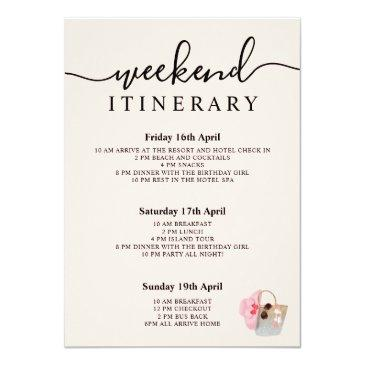 Small Beach Bag Birthday Silver Pink Glitter Weekend Invitation Back View