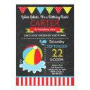 beach ball birthday invitation