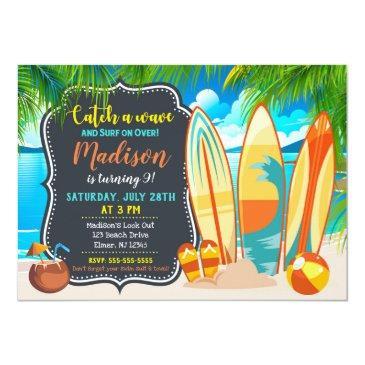 beach party birthday invitation, summer party invitation