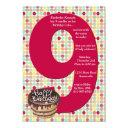 big 9 birthday party invitations