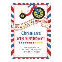 big wheel boy birthday party invitations