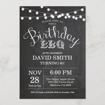 birthday bbq invitation 80th birthday chalkboard