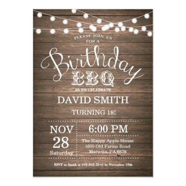 birthday bbq invitations rustic 18th birthday